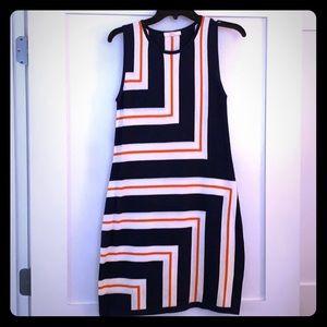 Trina Turk Size Small Striped Cotton Dress